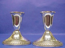Pair of  elegant Sterling Silver CANDLESTICKS