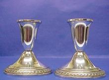 Pair of  elegant Sterling Silver CANDLESTICKS