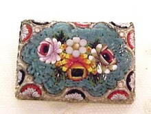 Floral Mosaic Brooch