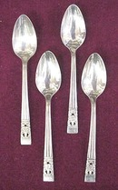 Lovely Silver Plate Tiny Coffee Spoons