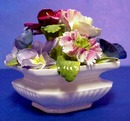 Staffordshire China Flowers in Vase