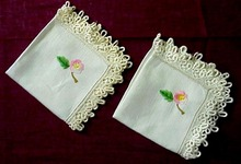 40's Lace & Embroidery NAPKINS
