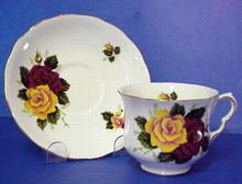 Spectacular Queen Anne China Teacup and  Saucer