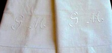 Pr. Pillow Cases Monogram G.M. PILLOWCASES