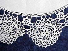 Antique White Linen Round Piece
