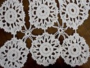 Crocheted White LACE RUNNER