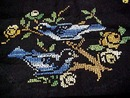 BLUE BIRDS Needlework RUNNER