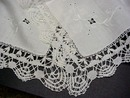 5 pc. Set Linen &  Lace TABLECLOTH
