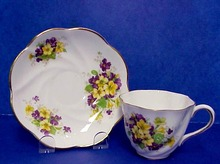 Very Pretty Salisbury Cup & Saucer Fine English Bone China