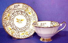 Elizabethan China Cup & Saucer - 25th