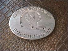 Heavy Diecast Buckle Saskatchewan Roughriders