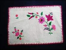 Vintage Tray Cloth with Beautiful Embroidery