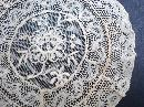 Finest French Net Lace Doily - Lace Rose
