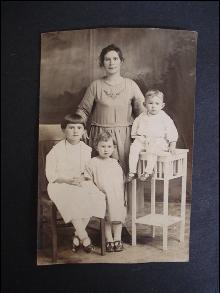 Old Family Photo - Mother and Babies