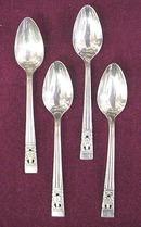 4  Silver Plate Tea Spoons  - CORONATION