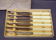 Box of Sheffield LUNCHEON KNIVES