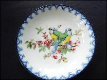 Vintage Butter Pat-Cherry Blossoms and Birds