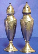 Tall Pair of Silver Salt & Pepper