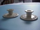 WEDGWOOD QUEENS WARE CANDLESTICKS
