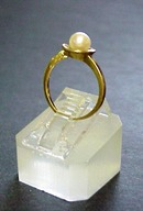 Yellow Gold Ladies PEARL RING