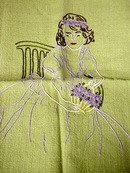 Pretty Antique Emroidery Decorative Pillow Case