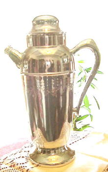 Deco Chrome Cocktail Shaker Jug