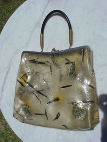 LADIES 40's Plastic  PURSE - BAG