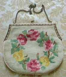 Lovely Needlework FLORAL BAG - PURSE