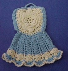 Figural Pot Holder Tiny Dress