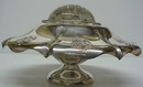 ANTIQUE SILVER FLOWER VASE w/Frog