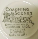 Johnson Bros COACHING SCENES  DINNER SET