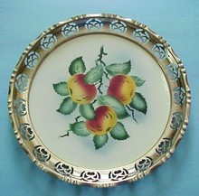 Antique ROUND SERVING TRAY - Germany