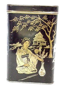 LIPTON'S TEA Tin - Gold/Black