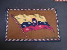 Antique Tobacco Felt - Flag of Colombia