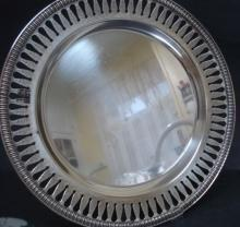 Serving Silver Tray - Round - Open Work
