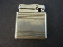 Antique Cigarette Lighter - Silver tone - Deco designs - Colibri by Kreisler - West Germany
