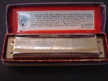 Marine Band  Hohner Harmonica #1896 - Original Box - Great Graphics