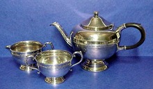 1930's 3 Pce. SILVER TEA SET