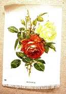 Lovely Antique Tobacco Cigarette Silk - Roses