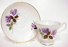 Imperial Cup & Saucer - Lavender Rose