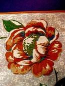 Printed Hanky - Orange Roses