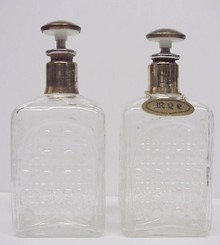 1940's Pressed Glas 2  DECANTERS