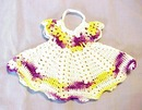 Pretty Figural Crocheted Lace Pot Holder Tiny