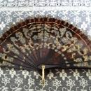 Antique Ladies Fan - Tortoise Shell Color