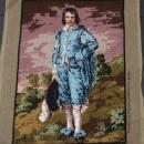 Vintage Needlepoint Blue Boy Tapisserie Made