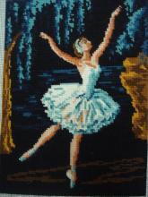 French Needlepoint Ballerina Tapisserie