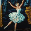 French Needlepoint Ballerina Tapisserie
