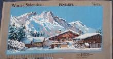 Vintage Needlepoint Winter Splendour England