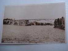 Real Photo Postcard Highway Bridge Kenora Ontario Keewatin Channel
