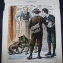 Antique Print Water Color Hand Painted